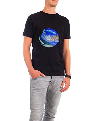 """Design T-Shirt Männer Continental Cotton """"""""Magical"""""""" - stylisches Shirt Tiere Natur Reise Fiktion von Nikita Jariwala Schwarz"""