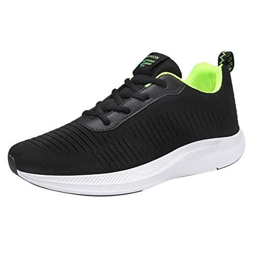 Skxinn Unisex Fitnessschuhe Leicht Schnürschuhe Atmungsaktive Casual Herren Sneakers Mode Turnschuhe Sportliche Tennis-Laufschuhe Wanderschuhe für Damen Gr 35-48(Grün,39 EU)