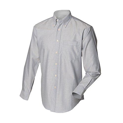 Henbury Herren Hemd / Arbeitshemd, langärmlig Lila