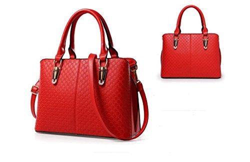 La nuova tendenza della femmina moda borse a mano, big bags, spalla di svago, Messenger bag Big red