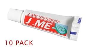 10 x mini dentifrice de voyage (Mini Toothpaste)