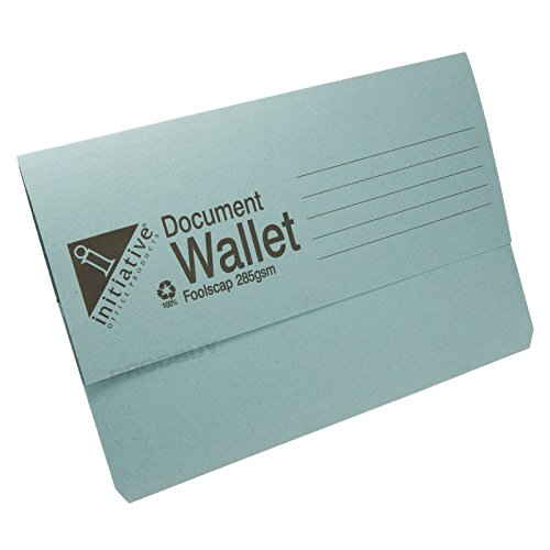 50 x 285gsm Foolscap Premium Document Wallets A4 Paper Storage Files Folders