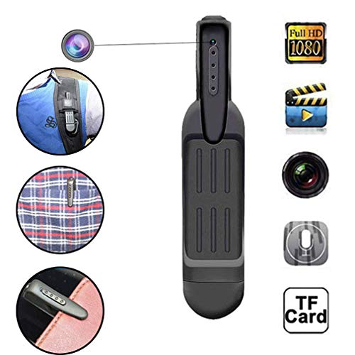 HWUKONG Versteckte Spionagekamera, Full HD 1080P Mini Pen Kamera Infrarot Nacht Version Auto DVR Clip Camcorder Sprach Video Aufnahme Micro Cam Unterstützung TF Karte -