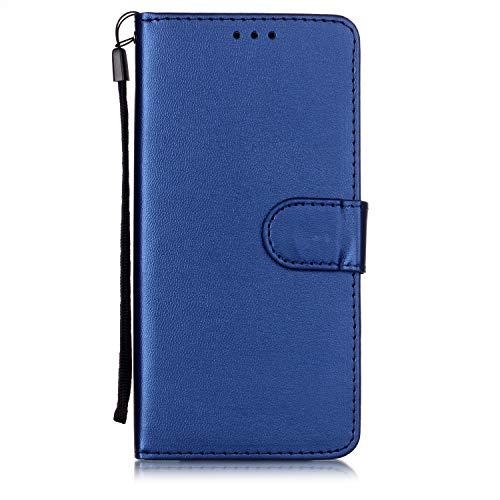 Lomogo Flip Cover Nokia 9 PureView, Custodia Portafoglio a Libro Pelle Porta Carte Chiusura Magnetica Antiurto Leather Wallet Case per Nokia9 PureView - LOYHU250772 Blu