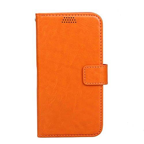 Cuitan PU Cuir Flip Case Housse pour Apple iPhone 7 plus (5.5 Inch), Doux Inner Case avec Slots de Cartes et Supporter Fonction Fermeture Magnétique Protecteur Etui Case Coque Case Cover Housse Shell  Orange