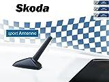 NIQ AM/FM Auto-Kurzstab-Tuning-Sport-Austausch-Dach-Antenne für Skoda M5+M6 Gewinde