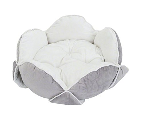 downy-flower-snuggle-bed-with-velvety-soft-petals-in-white-grey-perfect-for-all-pets-who-prefer-a-co