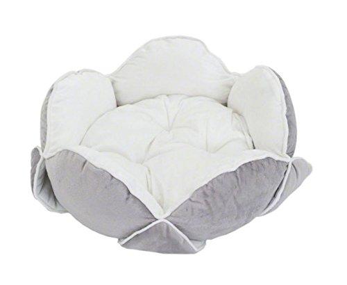downy-fleur-snuggle-coque-arriere-rigide-lit-avec-veloute-doux-petales-en-blanc-gris-ideal-pour-tous