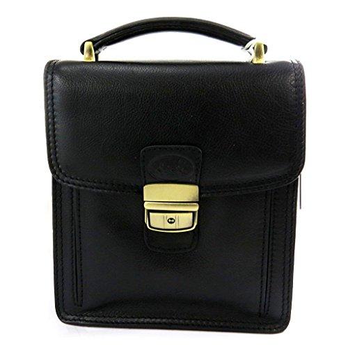 Bolsa de cuero hombre 'Lafayette'negro (2 veces).