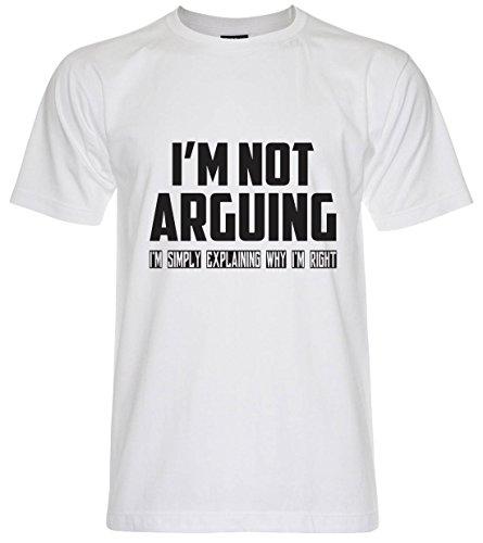 PALLAS Unisex's I'm Not Arguing I'm simply Explaining Why I'm Right T-Shirt White