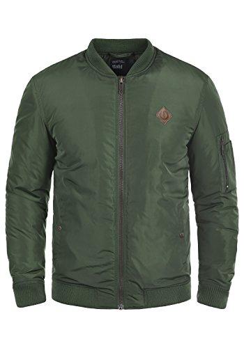 SOLID Park Herren Übergangsjacke Bomber-Jacke mit Stehkragen aus hochwertiger Materialqualität, Größe:XXL, Farbe:Climb Ivy (3785)