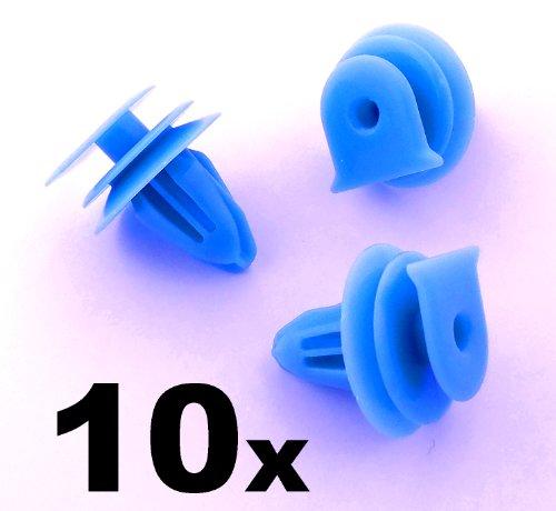 10x Clips Agrafes Plastique - Honda Pare-brise Bure, Panneau Scuttle, Moteur Essuie-glace Housse, Bord Clip (90602-S5A-003, 90602S5A003) - LIVRAISON GRATUITE!