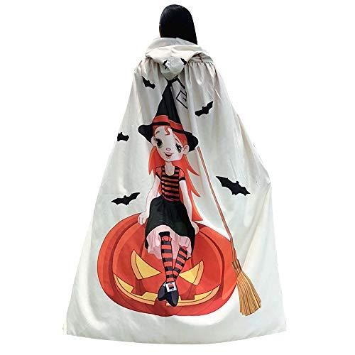 Mumie Kostüm Verpackung Material - GOKOMO 140 * 100 Halloween Print Kapuzen Mantel Beige Hexe