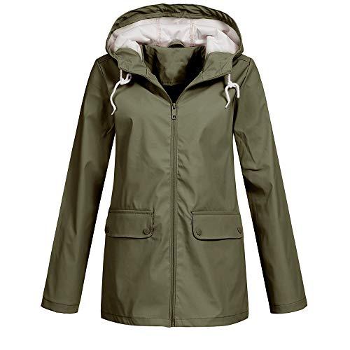 Toasye Ausverkauf Frauen Herbst Winter Langarm Wasserdichte Jacke, Damen Einfarbig Reißverschluss Lässig Mit Kapuze Mantel Sweatshirt