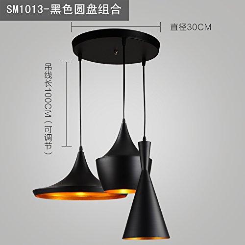 Luckyfree Kreative Moderne Mode Anhänger Leuchten Deckenleuchte Kronleuchter  Schlafzimmer Wohnzimmer Küche, Schwarze Abc Disc Combo