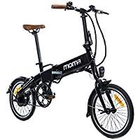 Moma Bikes Bicicleta Electrica, Plegable, Urbana E-16 TEEN, Aluminio, Bat