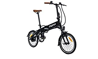 Moma Bikes, E-16 Teen, Electric City Folding Bike, Black, Aluminum, Bat. Ion Lithium, 36V 9Ah (B07G8GHRKS) | Amazon price tracker / tracking, Amazon price history charts, Amazon price watches, Amazon price drop alerts