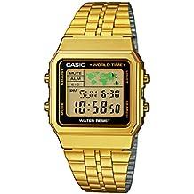 Casio A500WEGA-1EF - Reloj de pulsera hombre, Acero inoxidable, color dorado