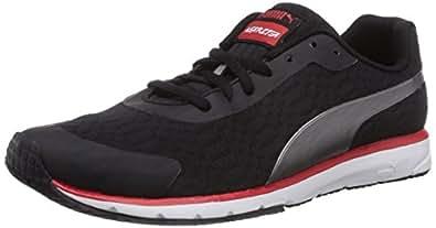 Puma Men's Narita v3 SPEED Black-Silver Metallic Mesh Running Shoes - 13UK/India (48EU)