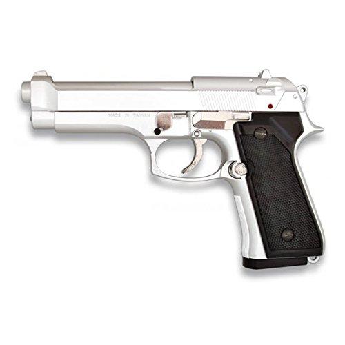 Martinez 35163. Pistola airsoft M92F metálica, color plata. Calibre 6