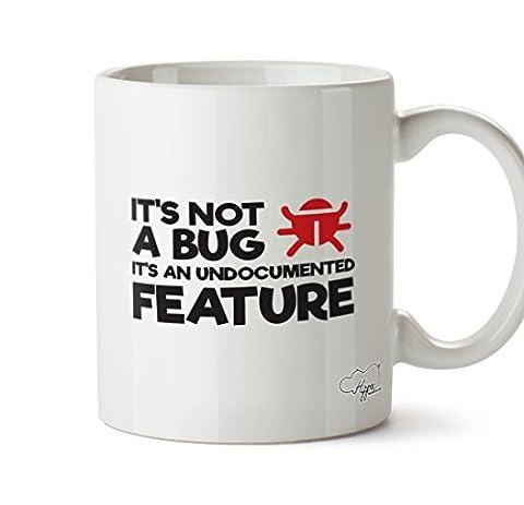 Hippowarehouse CE n'est pas un Bug informatique Fonction Inconnus de 283,5gram Mug Cup, Céramique, blanc, One Size (10oz)