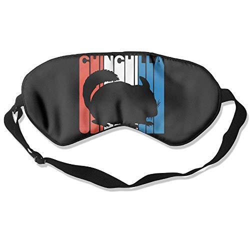 Retro Chinchilla Silhouette 99% Eyeshade Blinders Sleeping Eye Patch Eye Mask Blindfold for Travel Insomnia Meditation Black Chinchilla