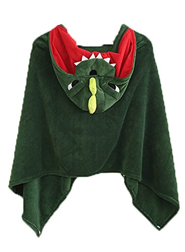 Cute Kostüm Party Animal - Damen Poncho Kapuzenpullover Cape Kuschelig Cosplay Kostüme Kleidung Animal Cute Chic (Color : Grün, Size : One Size)