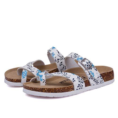 Frauen Cross Strap Kork Slide Sandalen Slip on Open Toe Hausschuhe Plattform Fußbett Sommer Freizeitschuhe -