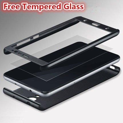 super popular 5e6e9 c0ea2 AE (TM) ORIGINAL 100% 360 Degree XIAOMI REDMI NOTE 4 Front Back Cover Case  WITH TEMPERED - BLACK