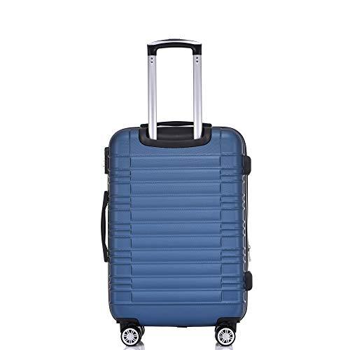 BEIBYE 2088 Zwillingsrollen Reisekoffer Koffer Trolleys Hartschale M-L-XL-Set in 13 Farben (Blau, M) - 3