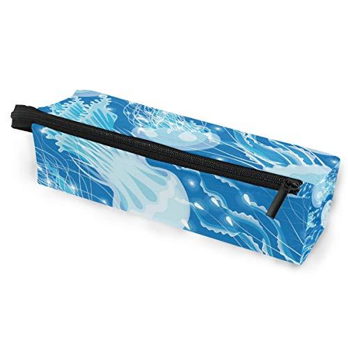 Ozean tier glühende quallen gruppe brillen case softbox reißverschluss sonnenbrille halter federbeutel schutzhülle bleistift kosmetiktaschen lagerung