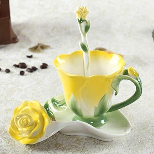 Tassen Weinglas 1 Stück 150 ml Keramik Tasse Kaffeetasse Tee-Zubehör Bone China Tasse Löffel Geschirr Teeset Europäische Bone China Tasse e - Weingläser Farbige Multi