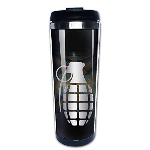 Stainless Steel Grenade Platinum Style Tumbler Coffee Mug(Tazzine da caffè)