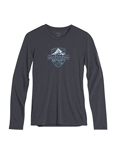 Icebreaker Women's Technical Shirt Tech Lite Long Sleeve Crewe Alpine Ridge, Womens, Funktionsshirt Tech Lite Long Sleeve Crewe Alpine Ridge