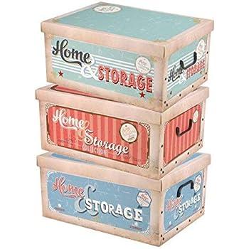 40,5 x 31,7 x 19,5 cm PP 15 Liter Rotho Creative Aufbewahrungskiste mintgr/ün mit Motiv Flamingo Kunststoff