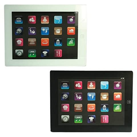 IPAD GLASS CHOPPING BOARD KITCHEN VEGETABLES MEAT FRUIT WORKTOP SLICING CUTTING (BLACK)