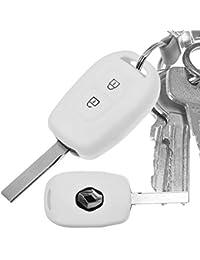 Key Soft Case Cover Funda de Silicona Blanca para Renault Kangoo Twingo Wind Mode Clio Fluence