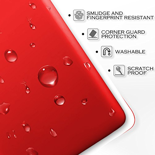 SLEO Coque iPhone 7 Plus, iPhone 8 Plus, Etui PC Simple Semi-Rigide Arrière Protection Solide Anti-Rayures Léger Portable Shell Armor Résistant aux décoloration Qualité Cover Case Housse pour iPhone 7 Rouge