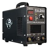 Schweißgerät 200 MMA +TIG/WIG Inverter HF-Zündung + Schweißmaske + Zubehör
