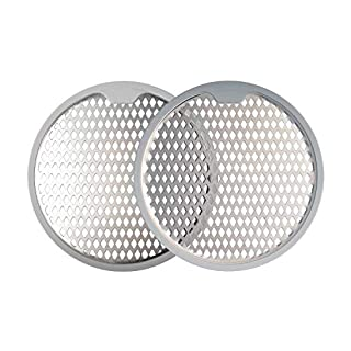 Bathtub Drain Strainer Mesh Sink Stopper Diamond Hole Filter Polished Stainless Steel and Silicone Utility Hair Catcher Protector for Shower Stall Kitchen Laundry Set of 2