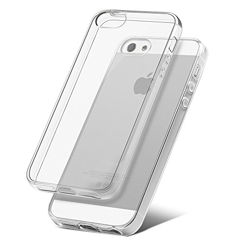 Iphone 5/ 5s/ 5c/ se custodia coolreall® trasparente crystal anti-graffio in tpu silicone morbida