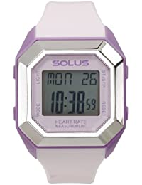 Solus Unisex Digital Watch with LCD Dial Digital Display and Pink Plastic or PU Strap SL-840-006