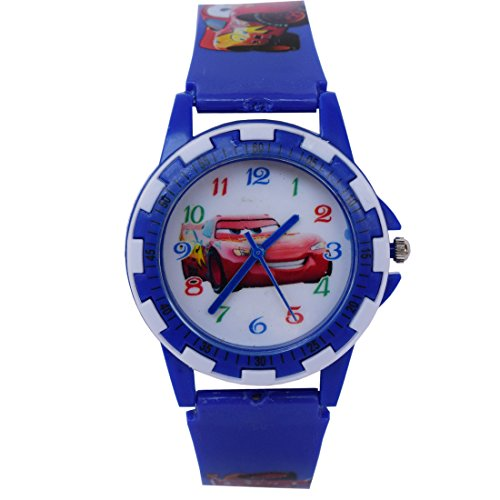 VITREND (TM) New Stylish Cartoon Car Round Dial Analog Watch For Kids (Sent As Per Available Color)