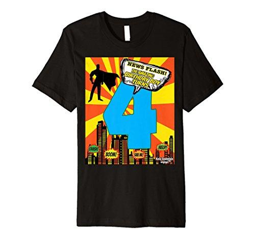 Superhero Birthday Shirts For Boys Size 4 Four Party Theme