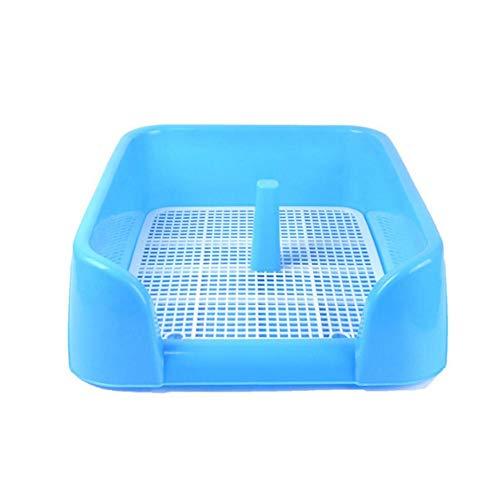 Blue-Yan Hunde-Auffangschale, 17 Zoll x 17 x 6 cm, ideal für Welpen, mittelgroße Hunde, Katzen, Hasen, widerstandsfähig blau (Welpe Gras Pad)