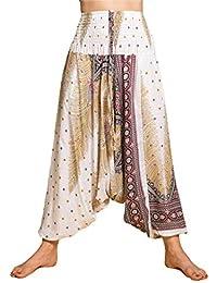 PANASIAM Aladin Pants, Design-Style: 'V' Peacock, Das Original, Qualitätshose aus Naturstoff!! M,L & XL