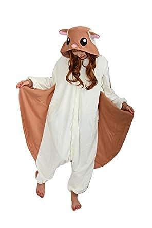 brlmall Unisex adulto pigiama peluche pigiama Cosplay Scoiattolo Volante kigrumi FlyingSquirrel X-Large