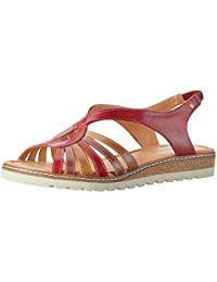 Alcudia W1l_v17, Sandales Bout Ouvert Femme, Rouge (Marsala), 40 EUPikolinos