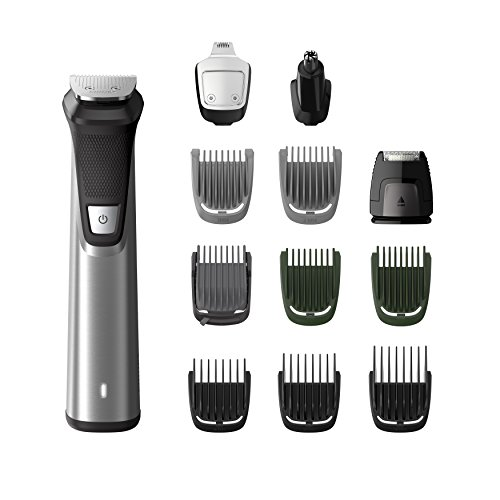 Price comparison product image Philips Series 7000 12-in-1 Ultimate Multi Grooming Kit for Beard,  Hair and Body with Nose Trimmer Attachment - MG7735 / 33
