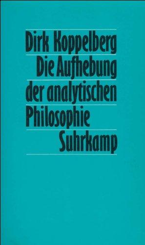 Die Aufhebung der analytischen Philosophie: Quine als Synthese von Carnap und Neurath